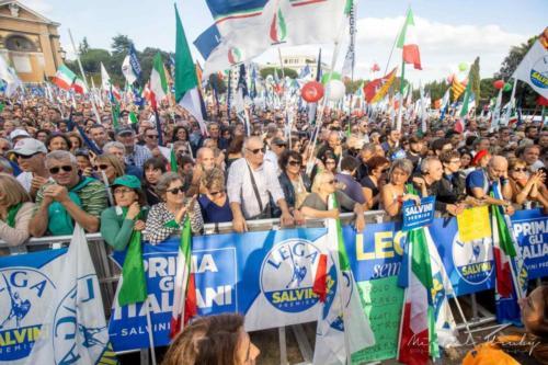 "Manifestace ""Orgoglioitaliano"", Řím, Itálide 19. 10 2019"