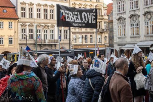Demonstrace na podporu ČT 17.10.2019