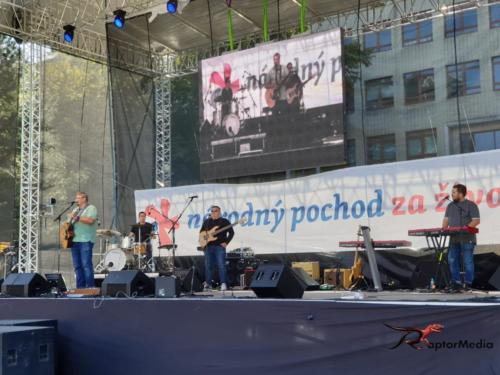 Národný pochod za život Námestie Slobody, Bratislava, Slovensko.