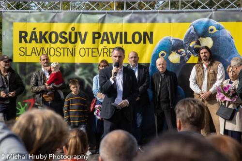 Slavnostní otevření Rákosova pavilonu