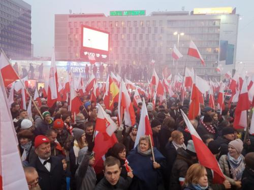 Patriotický pochod, Polsko,100. výročí nezávislosti